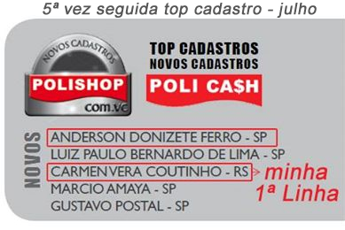 Top Cadastro Polishop quinta vez consecutiva