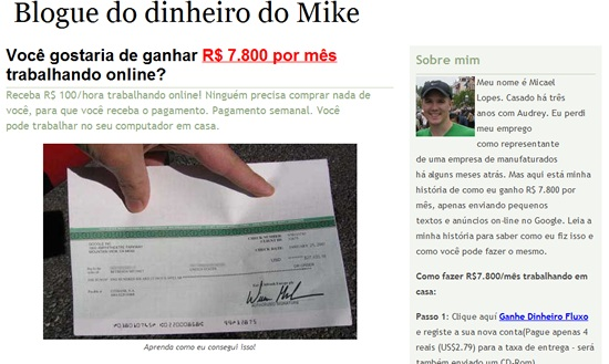 blogue do dinheiro do Mike